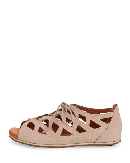 Betsi Laser-Cut Lace-Up Sandal