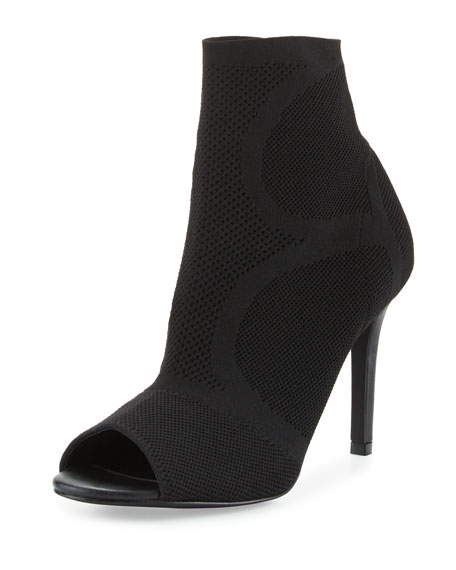 Joie Adriel Stretch Peep-Toe Bootie, Black