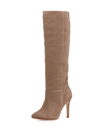 Joie Jabre Slouchy Suede Boot, Gray