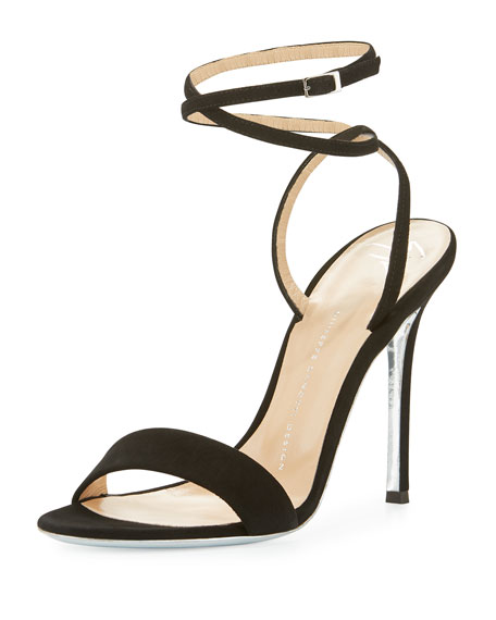 Giuseppe Zanotti Suede With Ankle Strap Sandals Black