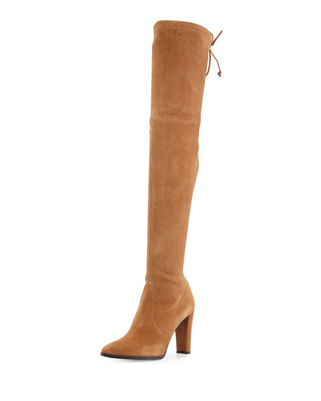 Highstreet Suede Over-the-Knee Boot, Toffee