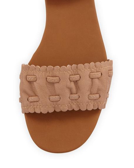 Jane Scalloped Ankle-Wrap Sandal