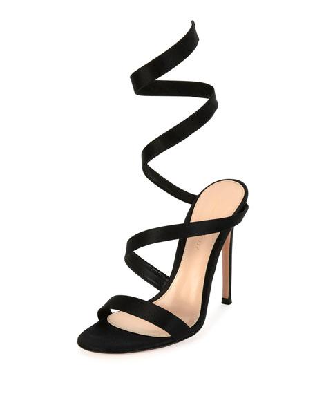 Opera Ankle-Wrap 105mm Sandal, Black
