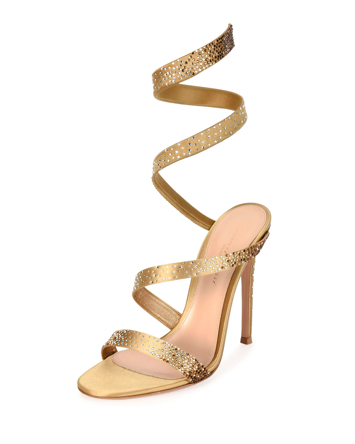 6f4ae9df5ee Gianvito Rossi Opera Ankle-Wrap 105mm Sandals