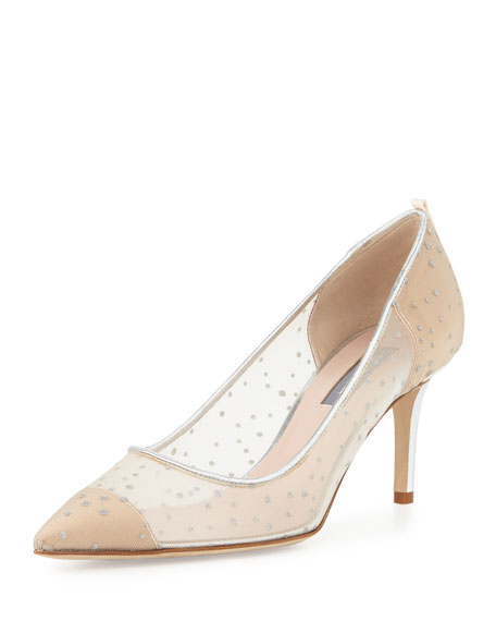 Evening Shoes: Satin Pumps &amp Heels at Neiman Marcus