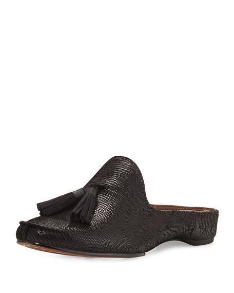 Donald J Pliner Bayez Tassel Slip-On Mule, Black