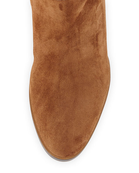 Suede Over-the-Knee Flat Boot