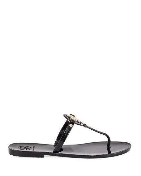 Mini Miller Flat Leather Thong Sandal