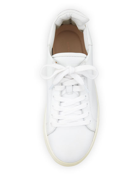 Bibi Butterfly Leather Low-Top Sneakers, White