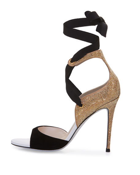 Crystal Lace-Up 105mm Sandal