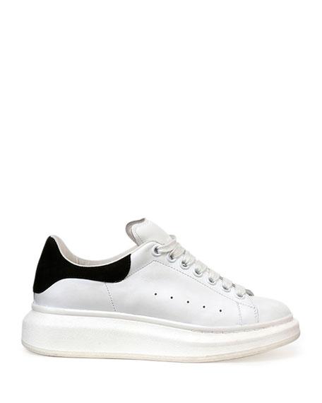 Leather Lace-Up Platform Sneaker