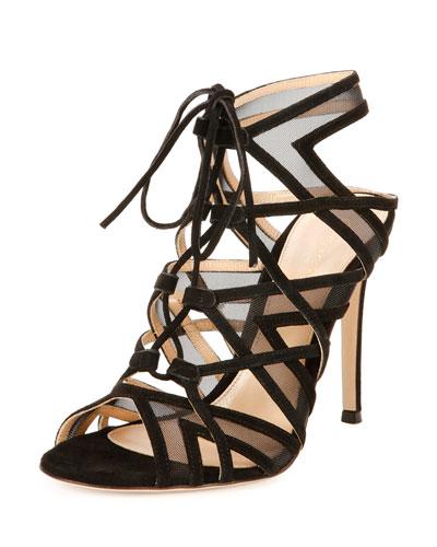 Adria Suede Crisscross 105mm Sandal