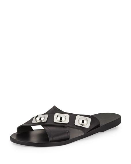 Ancient Greek Sandals Thais Studded Crisscross Sandal