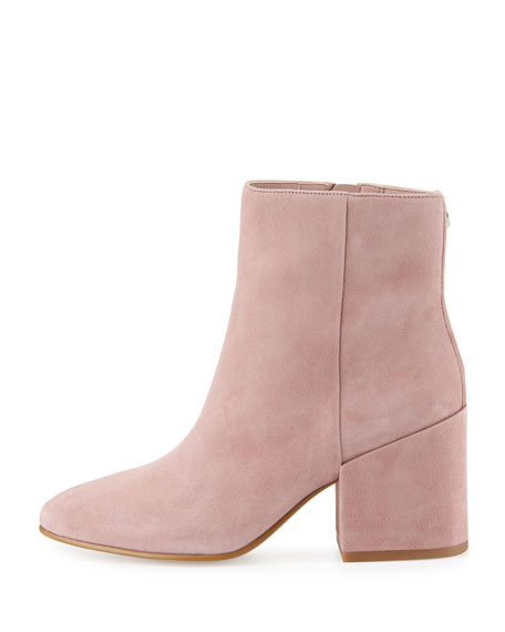 Taye Suede Chunky-Heel Bootie