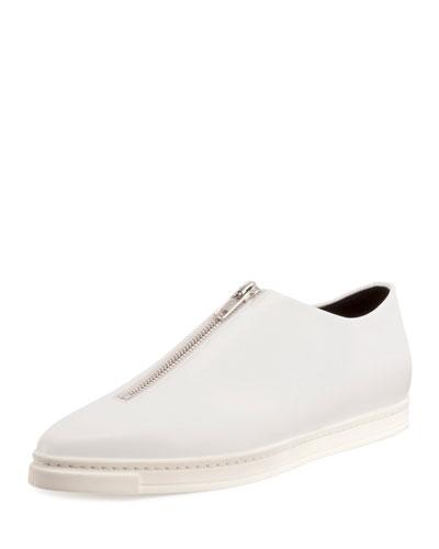 Sligo Zip-Front Sneaker, White