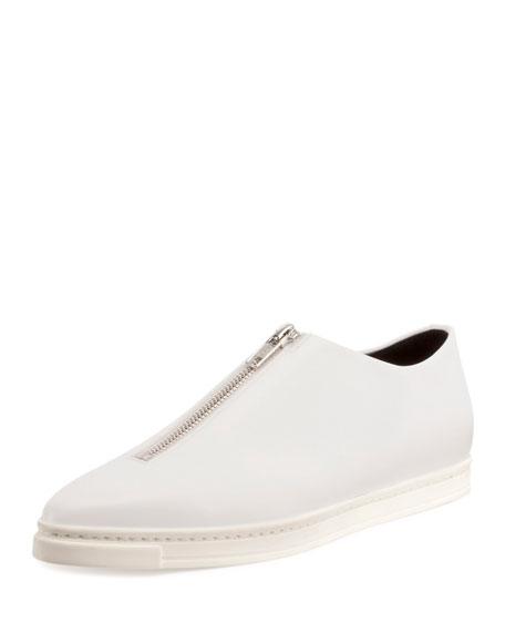Sligo Zip-Front Sneaker, White