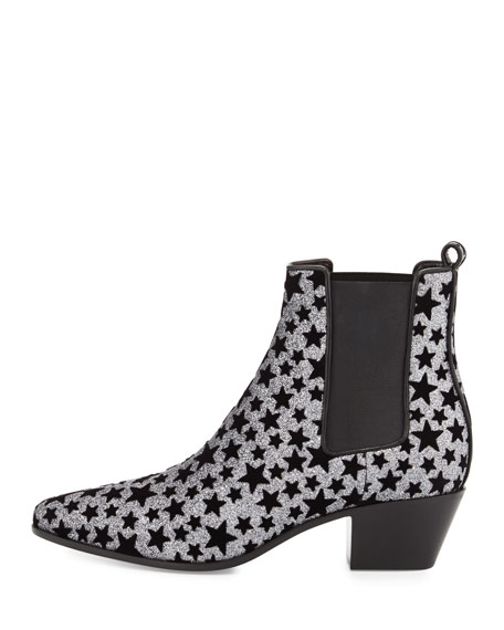 Star Rock Glitter Chelsea Boot, Anthracite/Nero