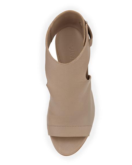 Addie Open-Toe Buckle-Back Sandal