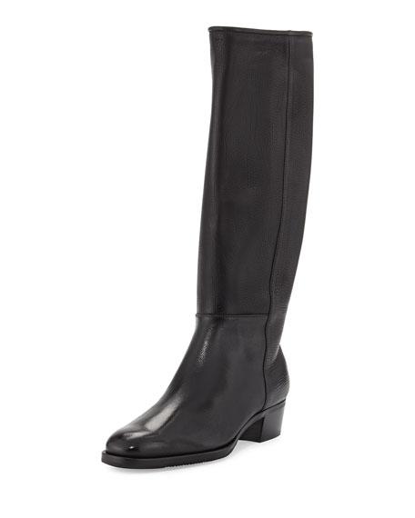 Gravati Leather 35mm Riding Boot, Black