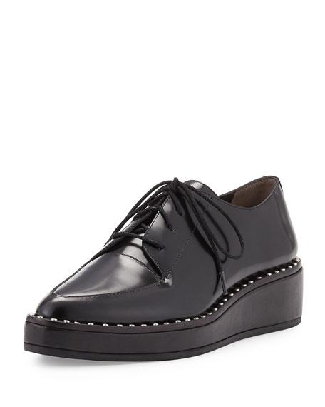 Loeffler Randall Frances Polished Leather Oxford, Black