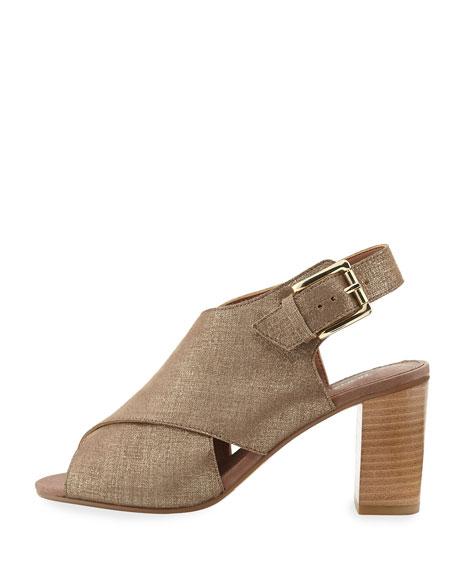 Indo Crisscross Chunky-Heel Sandal