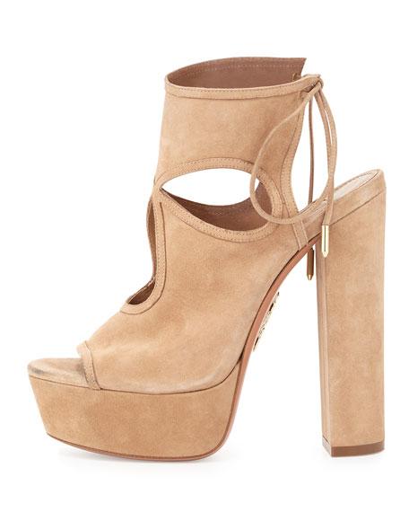 Sexy Thing Platform Sandals, Biscotti