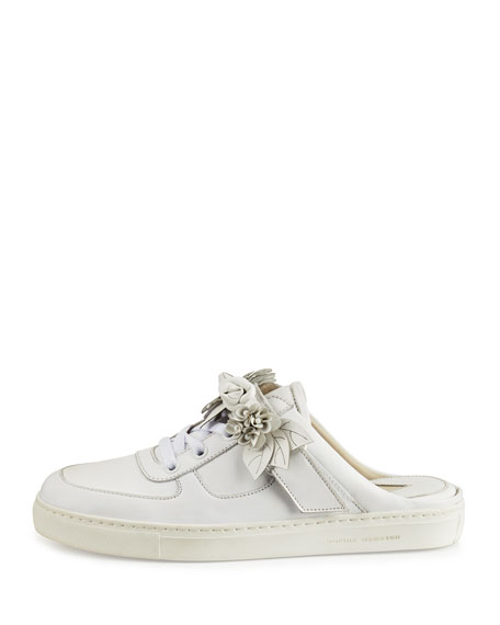Lilico Jessie Leather Slide Sneaker, White