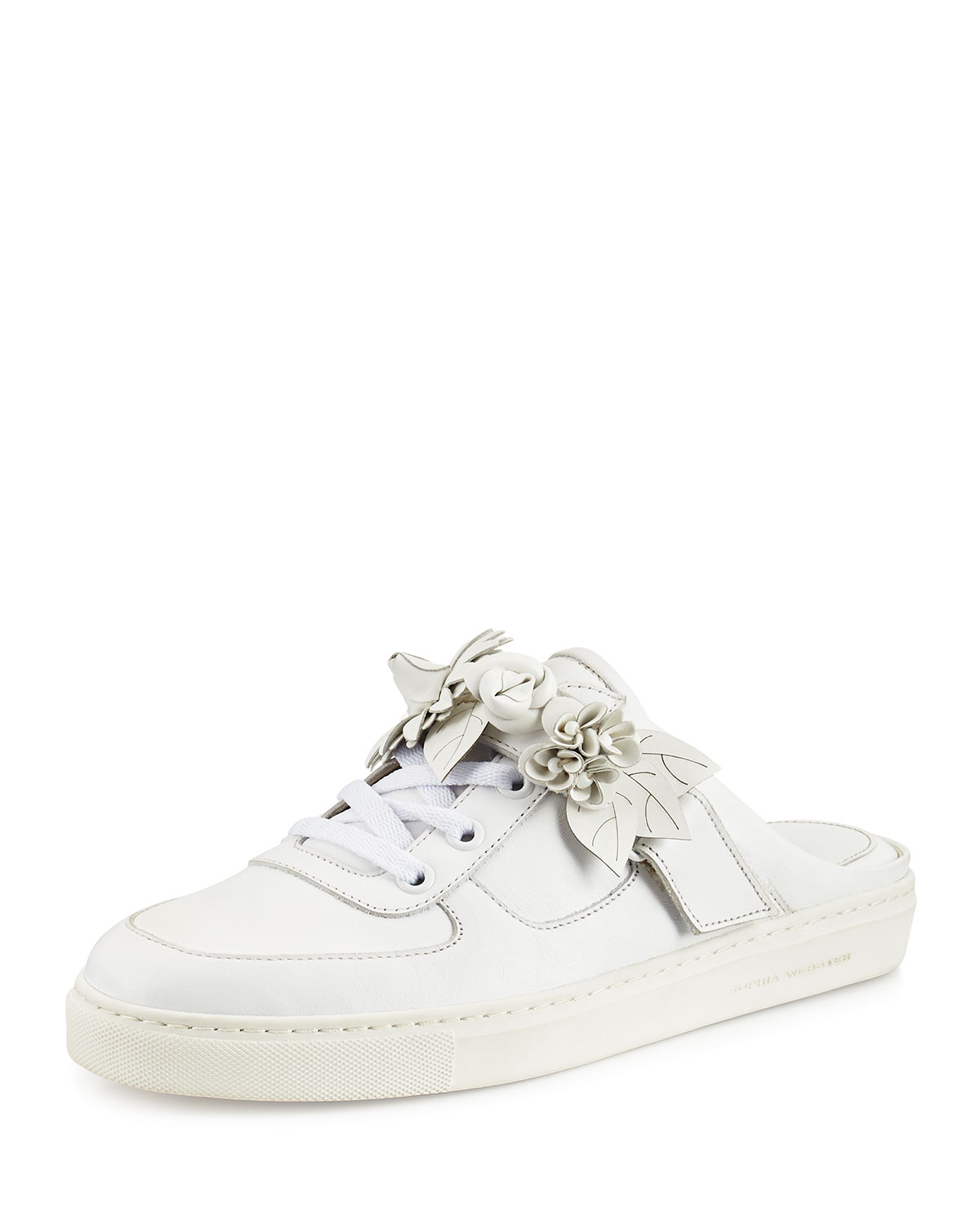 Sophia Webster Lilico Jessie Leather Slide Sneaker White