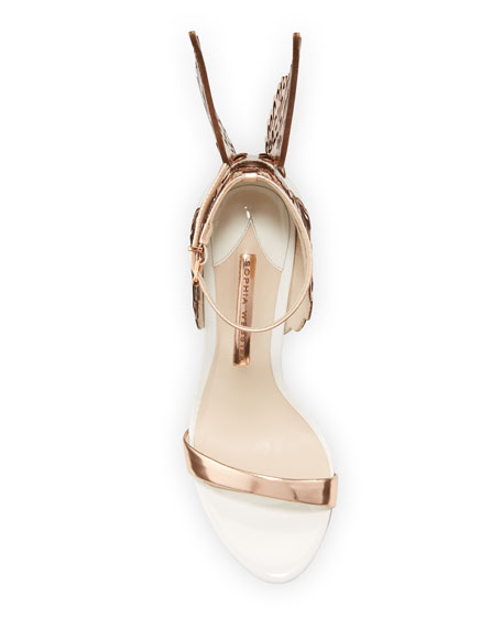 Sophia Webster Evangeline Angel Wing Sandals, Rose Gold/White