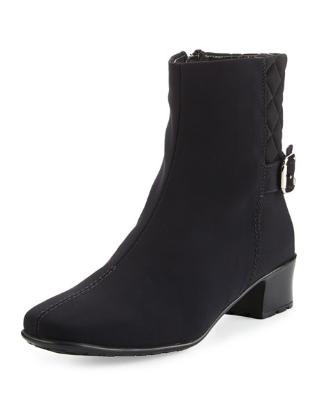 Yannik Weatherproof Quilted Ankle Boots, Black