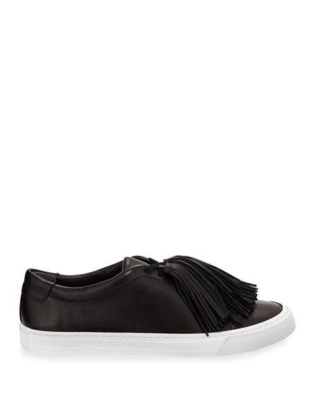 Logan Tassel-Tie Leather Sneakers