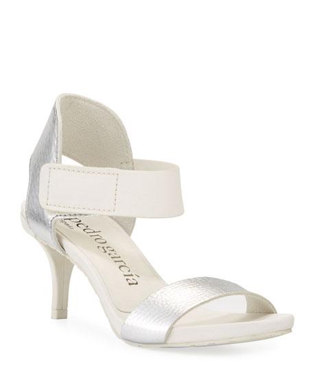 Pedro Garcia Wendelin Leather Low-Heel Sandal