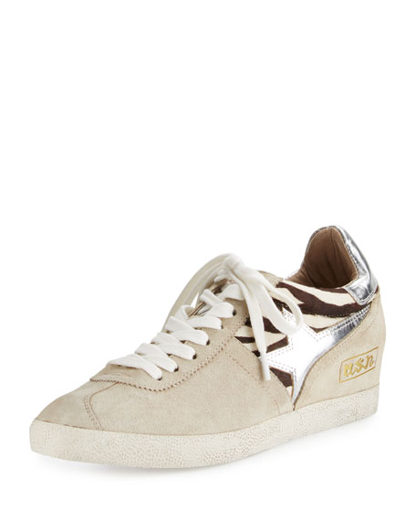 Ash Guepard Suede & Calf Hair Sneaker