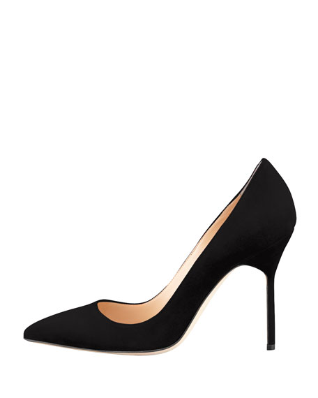 BB Suede 105mm Pump, Black