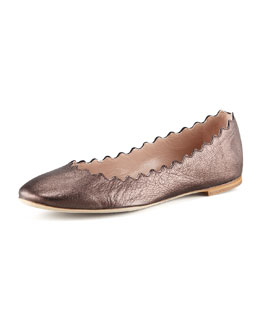 Chloe Lauren Scalloped Flat