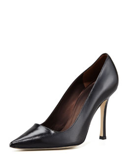 Manolo Blahnik Para Leather Pump