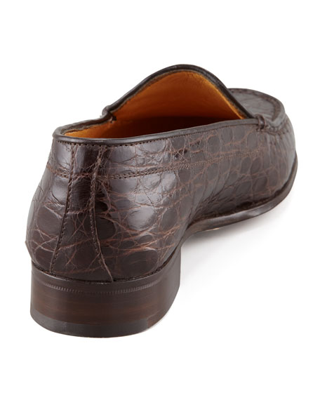 Crocodile Loafer, Dark Brown