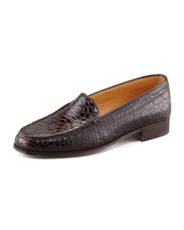 Gravati Crocodile Loafer, Dark Brown