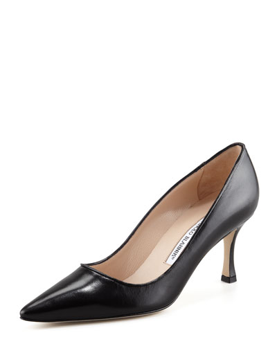 Newcio Kidskin Pump, Black