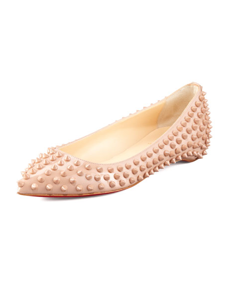 Pigalle Spiked Skimmer Red Sole Flat