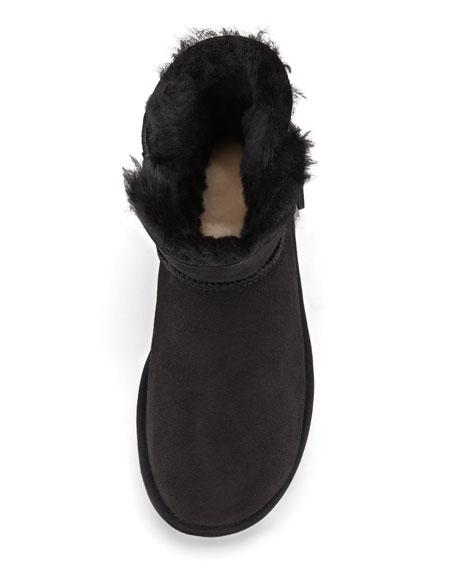 Mini Bailey Buttoned Boot, Black