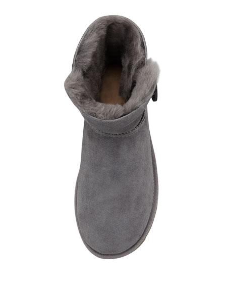 Mini Bailey Buttoned Boot, Gray