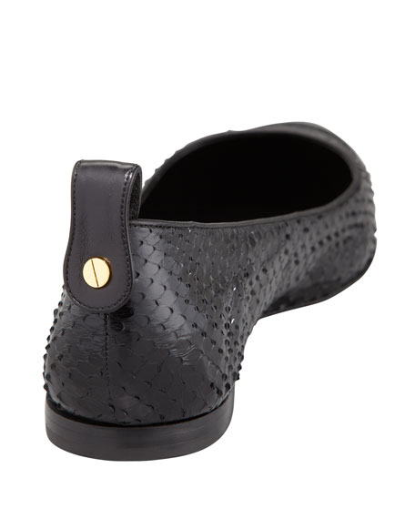 Flat Python Cap-Toe Skimmer