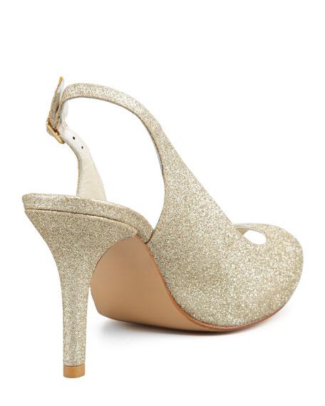 Litely Glitter Peep Toe Slingback