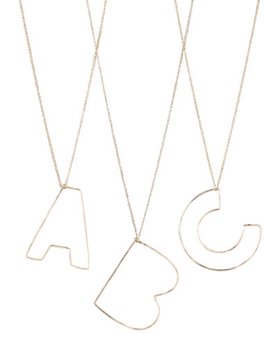 GaugeNYC Letter-Pendant Necklaces