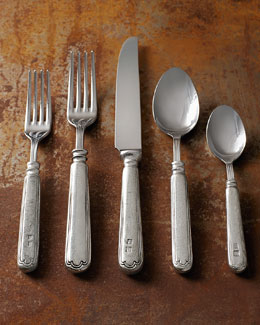 "ValPeltro 20-Piece ""Filet"" Pewter Flatware Service"