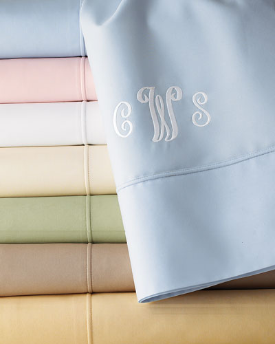 SFERRA Italian 500-Thread-Count Percale Sheeting, Full/Queen