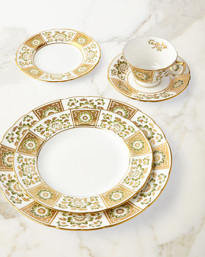 Derby Panel Green Dinnerware