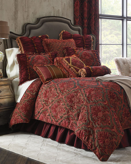 Isabella Collection by Kathy Fielder King Maria Christina Duvet Cover