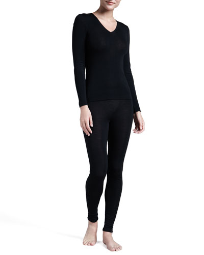 Hanro Silk-Blend V-Neck Top & Leggings